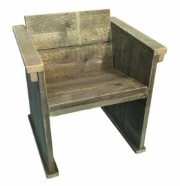Doe-Het-Zelf bouwpakket stoel afm: B72,4xD58,5xH82,5cm van oud of nieuw steigerhout