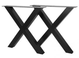 Stalen onderstel gepoedercoat X koker 10x10cm