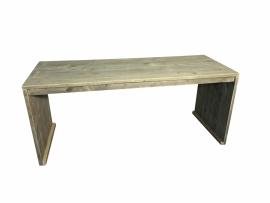 Bureau tafel 70x180cm van oud gebruikt  steigerhout