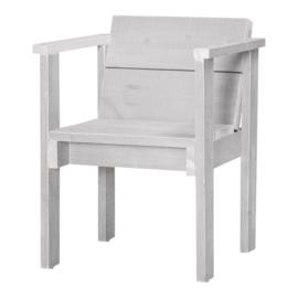 Diner stoel open steigerhout kleur schelp wit