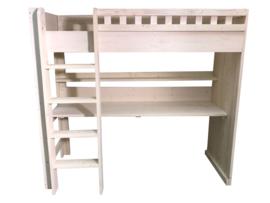 Hoogslaper gemaakt van steigerhout met schelpwit afm: L200xB90cm (voorraad magazijn artikel)