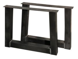 """Stalen tafel onderstel model """"trapezium"""" koker 10x10cm (STRIP)"""