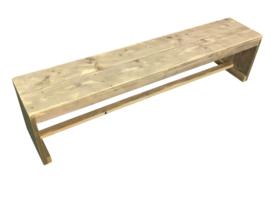 Bank van oud steigerhout met gesloten zijkanten Model Karwei