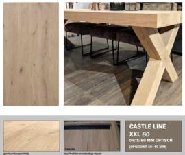 Eiken tafelblad Castle line XXL
