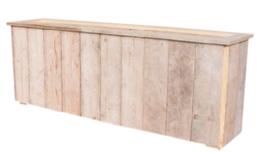 Planten / Bloembak 200x100x35cm van oud gebruikt steigerhout