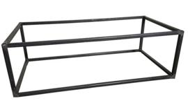 Stalen salontafel buisframe koker maat 2,5x2,5cm L90cmxB90cmxH43cm  (voorraad magazijn artikel)