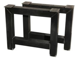 Stalen tafel onderstel model A koker 10x10cm B80xH71cm (voorraad magazijn artikel)