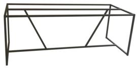 Stalen tafel onderstel buisframe koker 2x2cm met schuine schoren