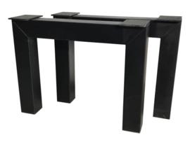 Stalen tafel onderstel model N koker 10x10cm B60cm x H71cm (voorraad magazijn artikel)