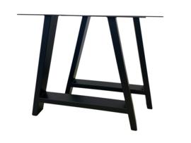 Stalen tafel onderstel model A koker 10x4cm