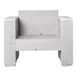 Doe-Het-Zelf bouwpakket loungestoel steigerhout massief kleur schelpwit