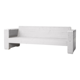 Doe-Het-Zelf bouwpakket loungbank steigerhout massief 3- zits kleur schelp wit