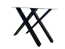 Stalen tafel onderstel model X koker 10x4cm