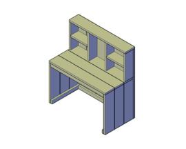 Doe-Het-Zelf bouwpakket steigerhout Kinderbureau Type A