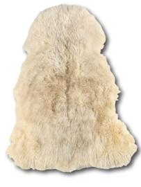 Curly Sheepskin Longhair White Mix