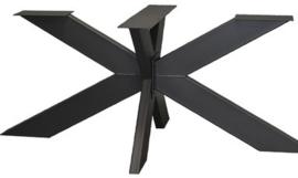 Stalen salon onderstel 3D gepoedercoat (knock-down) koker 10x4cm