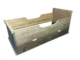 Bed van oud steigerhout