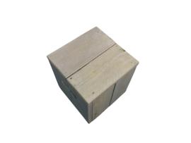 Kubus/kruk van steigerhout Afmetingen: B40xD40xH45cm