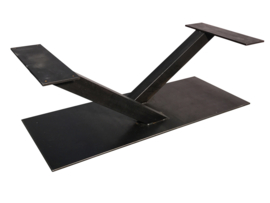 Stalen salontafel onderstel model V koker 8x8cm