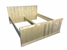 Bed van nieuw steigerhout afm: L200xB160cm (voorraad magazijn artikel)