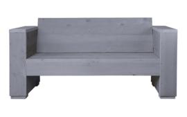 Doe-Het-Zelf bouwpakket loungebank steigerhout massief 2- zits kleur beton grijs