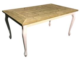 Tafel gemaakt met een blad van oud steigerhout *geimpregneerd afm: L100xB70xH76cm (voorraad magazijn artikel)