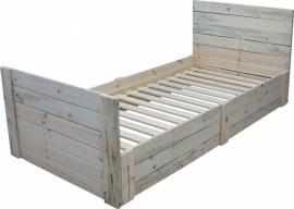 1-persoonsbed van sloophout 80/90x200 (KSL)