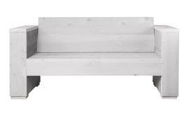 Doe-Het-Zelf bouwpakket loungebank steigerhout massief 2- zits kleur schelpwit
