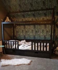 Kinderbedhuisje CABIN XL, 90 x 200 cm zwart