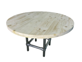 Nieuw steigerhouten tafelblad rond 60mm dik