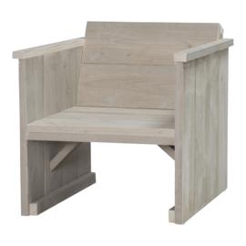 Loungestoel steigerhout kleur zand