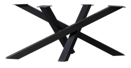 Stalen tafel onderstel model Twist koker 8x8cm (lang) L136cm x B80cm x H70cm (voorraad magazijn artikel)