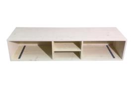 Tv meubel van steigerhout met whitewash en open vakken