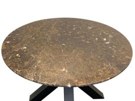 Tafelblad rond marmer Marron Emperador Bruin diameter 110cm