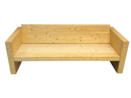 Loungebank van nieuw steigerhout afm: L250cm (voorraad magazijn artikel)