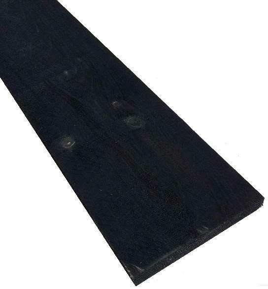 Steigerplank zwart prijs per meter