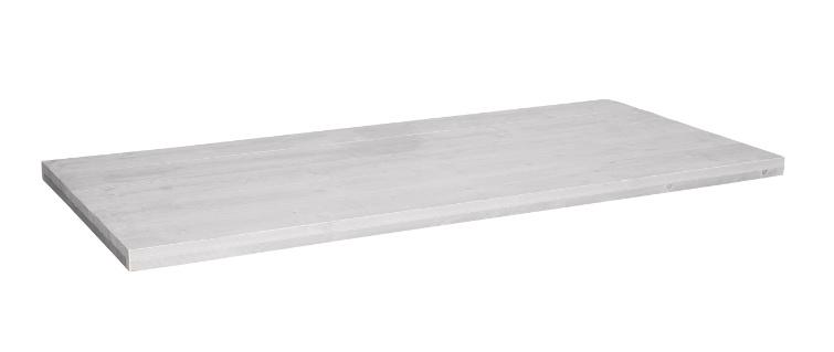 Tafelblad steigerhout Lucca kleur schelp wit