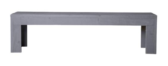 Openbank steigerhout kleur beton grijs