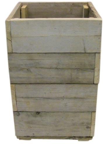 Bloembak / plantenbak oud steigerhout 60x60x105cm