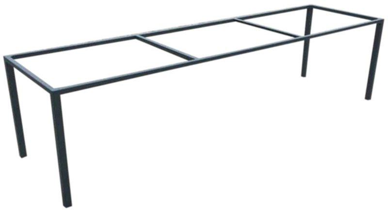 Stalen bank onderstel Mark buisframe koker 4x4cm L260cmxB100cmxH69cm (voorraad magazijn artikel)