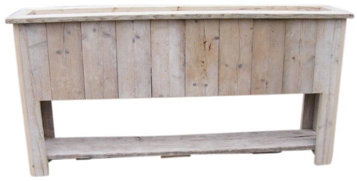 Plantenbak Bloembak 200x100x35cm met schap van steigerhout