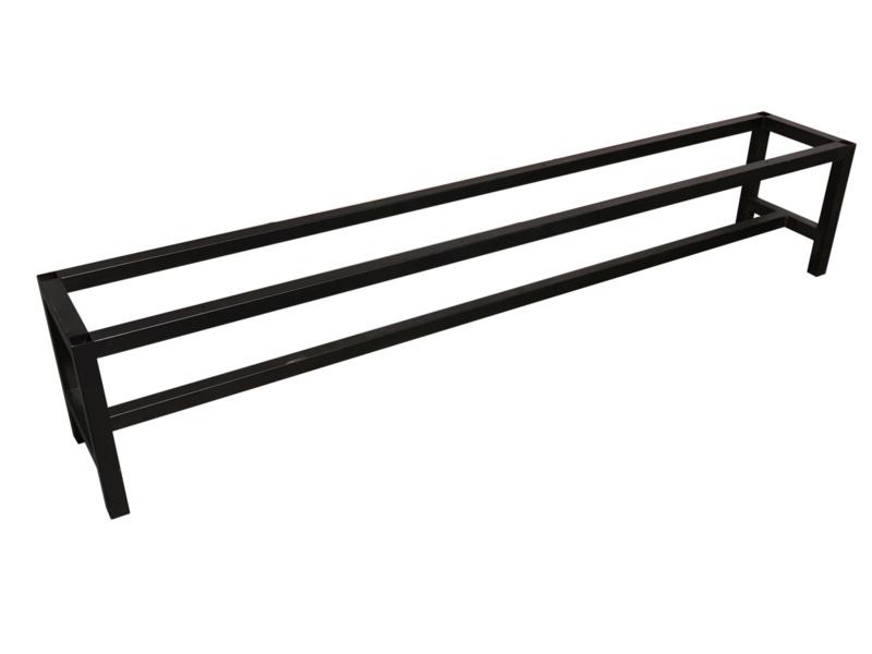 Stalen onderstel bank buisframe koker 4x4cm L194cmxB34cmxH41,5cm  (voorraad magazijn artikel)