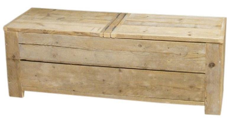 Montage voor speelgoedkist van steigerhout