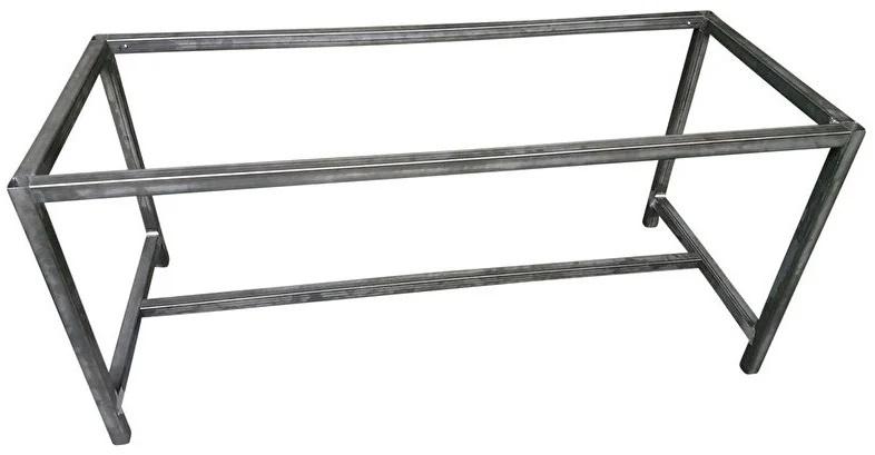 Stalen tafel onderstel buisframe koker 4x4cm L170cmxB30cmxH70cm  (voorraad magazijn artikel)