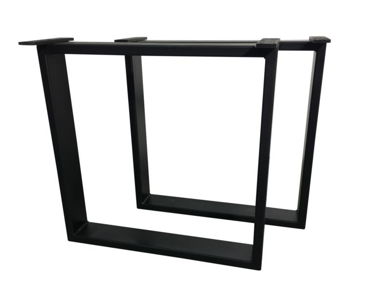 Stalen tafel onderstel model Chantal koker 8x4cm (STRIP) B60cm x H73cm (voorraad magazijn artikel)