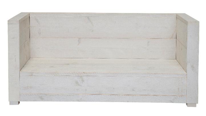 Loungebank Varia 2- zits kleur schelp wit