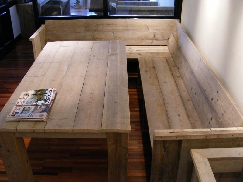 Ongebruikt Bank met zij en rugleuning gemaakt van steigerhout | Bankjes IJ-74