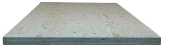 Nieuw vuren houten  tafelblad recht