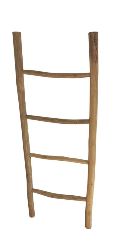 Houten decoratie ladder 120cm