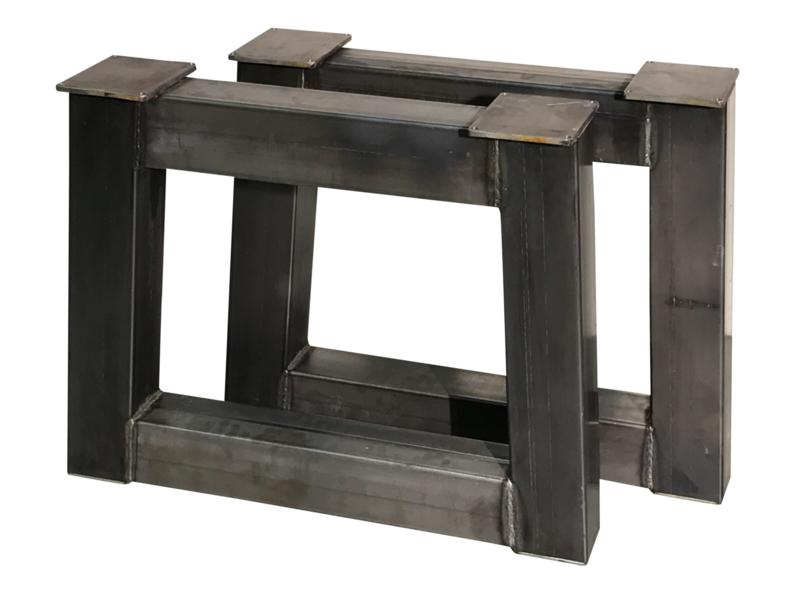 """Stalen tafel onderstel model """"trapezium"""" koker 12x12cm"""